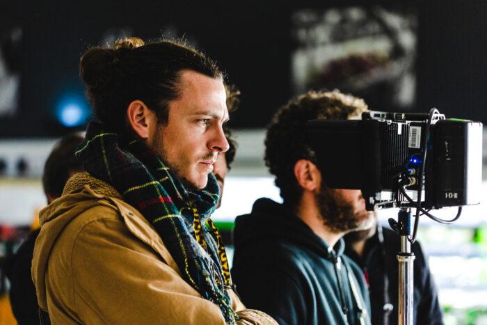 Luces durante el rodaje del spot de Lidl como productora audiovisual alimentacion