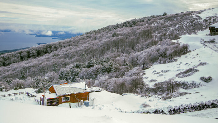 paisaje nevado como fotografía de viajes