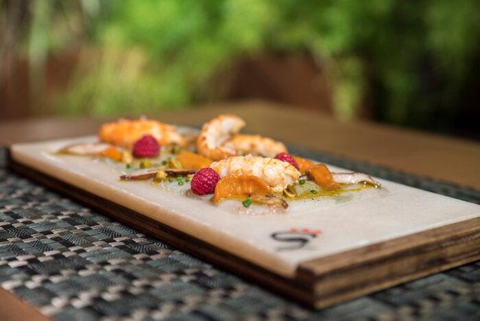 primer plano de tapa de fotografia gastronomica