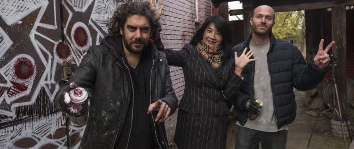 Personas durante el rodaje como productora audiovisual arte en No Ego